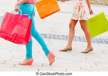 gående shoppa