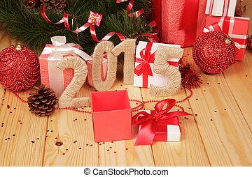 gåva boxar, jul, toys, och, 2015, underteckna