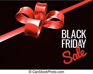 gåva, fredag, försäljning, bog, svart, design