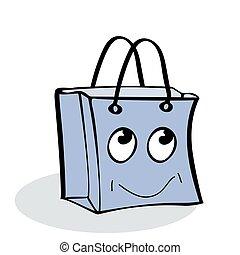 gåva, kolli, försäljning, nöje, sjal, flicka