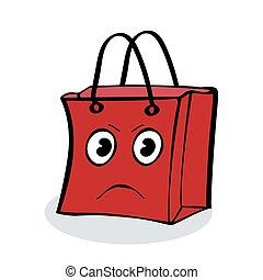 gåva, kolli, ilsket, försäljning, sjal, röd