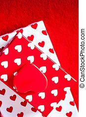 gåva kort, avskrift, filt, utrymme, bakgrund, valentinkort, hjärtan, röd, dag, text, rutor