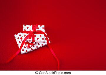 gåva kort, avskrift tomrum, bakgrund, valentinkort, hjärtan, röd, dag, strukturerad, text, rutor