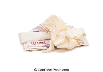 gåva, pengar, euro