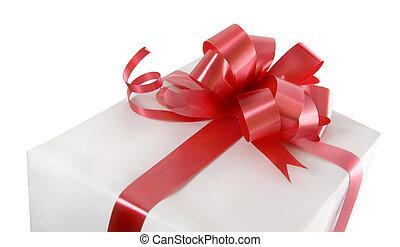 gåva, röd bocka
