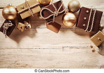 gåvor, gräns, julprydnader