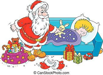 gåvor, jultomten, barn