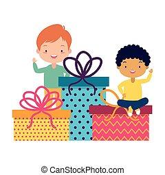 gåvor, lurar, lycklig