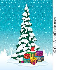 gåvor, träd, jul