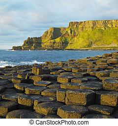 géant, nord, comté, antrim, irlande, chaussée