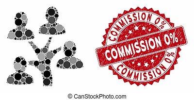 généalogie, mosaïque, commission, 0%, arbre, timbre, grunge