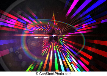 généré digitalement, étoile, laser, fond