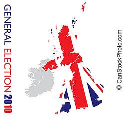général, élection, britannique, blanc