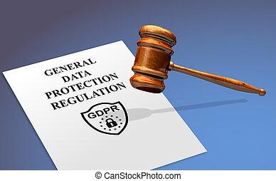 général, gdpr, protection, règlement, concept, données, conformité