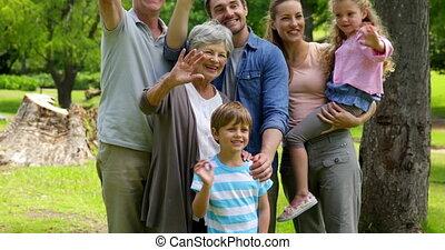génération, multi, poser, famille