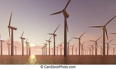 génération, turbines, puissance, vent