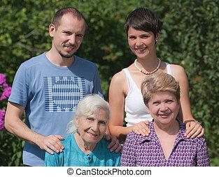 générations, trois, famille