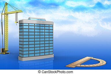générique, bâtiment, 3d