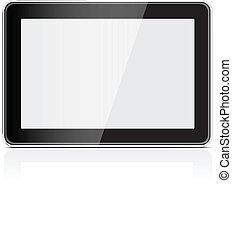 générique, pc, noir, tablette