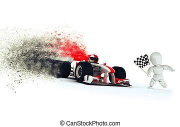 générique, voiture courir, effet, vitesse