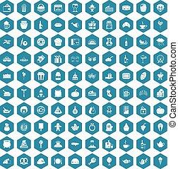 générosité, 100, icônes, violet, sapphirine