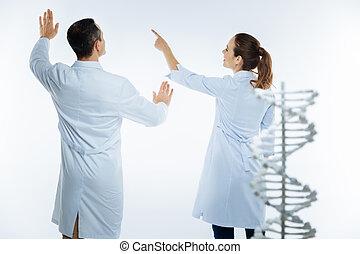 génétique, étudier, monde médical, quoique, collègues, ...