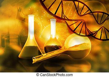 génétique, concept, ingénierie