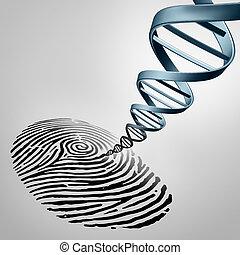 génétique, prendre empreintes digitales