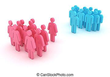 género, confrontación