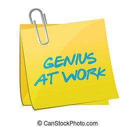 génie, poste, travail, conception, illustration
