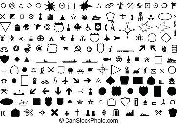 géographique, symbole
