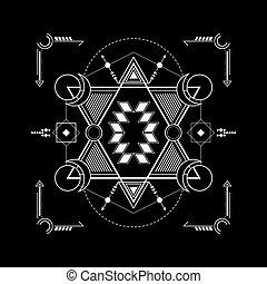 géométrie, étoile, sacré