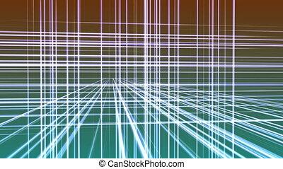 géométrie, 3d, 4k, espace, ligne