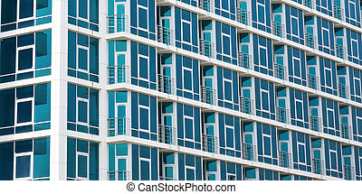géométrie, bâtiment, abstraction