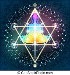 géométrie, bouddha, sacré