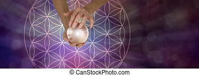 géométrie, boule quartz, scrying, sacré
