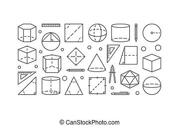 géométrie, concept, illustration, vecteur