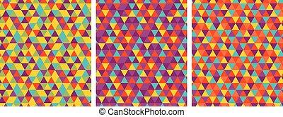 géométrie, couleur, pattern., seamless