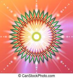 géométrie, fleur, sacré