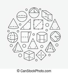géométrie, illustration, fondamental