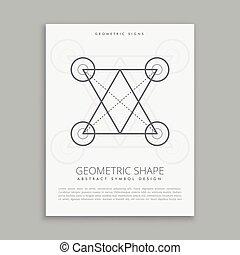 géométrie, ligne, sacré