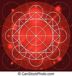 géométrie, magie, signe