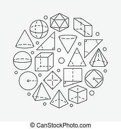 géométrie, mathématiques, illustration