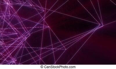 géométrie, néon, ligne, 4k, mouvement