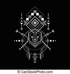 géométrie, navajo, sacré