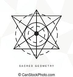 géométrie, sacré, signe
