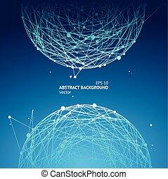 géométrie, sphère, résumé, vecteur, arrière-plan.