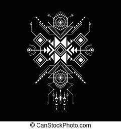 géométrie, style, navajo, sacré