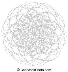 géométrie, symboles, éléments, mandala, sacré