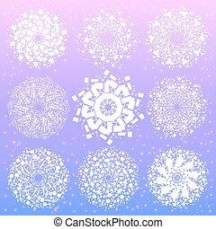 géométrie, symboles, mandala, sacré, elements.